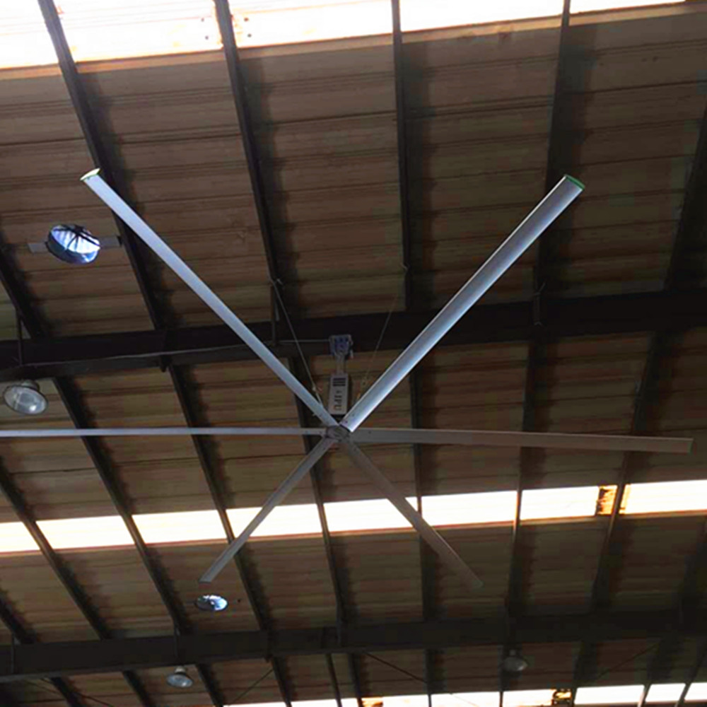 Warehouse Giant Ceiling Fan 9 ft High Volume Low Speed With Six Blades